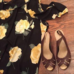 🔥Buy $5 Brown Leather Wedges